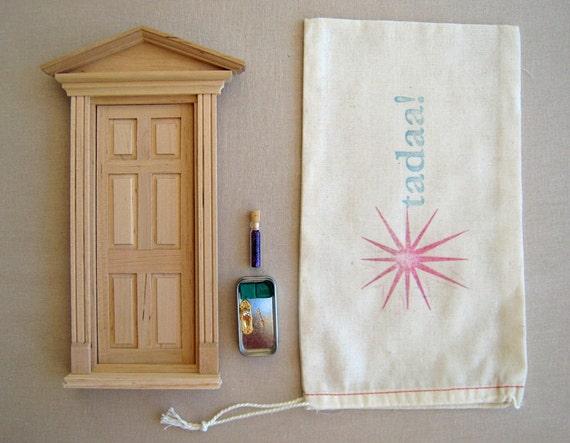Diy kit fairy door unfinished by tadaastudio on etsy for Unpainted fairy doors