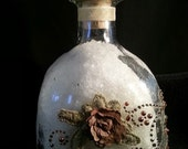 Free Shipping, 2 pounds Bath Salts, Dead sea salt, Beautiful, keepsake bottle, Free Shipping
