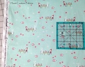Enchant Tea Party C3472 Aqua by Natalie Lymer for Riley Blake Fabrics 1/2 yard