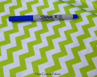 Small Lime Chevron C340-32 from Riley Blake Fabrics