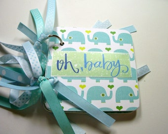 Baby Boy Giftcard Holder, Mini Giftcard Holder, Giftcard Holder, Baby Boy, New Baby Boy, Giftcard Book
