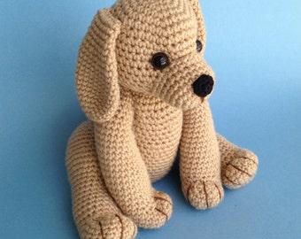 PDF CROCHET PATTERN Golden Retriever Puppy (English only)