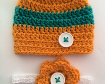 Newborn twin hat and headband set... Boy girl twins... Photography prop.. Ready to ship.. CLEARANCE
