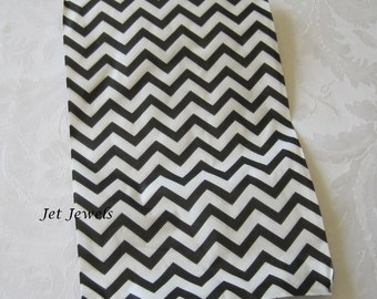 50 Paper Bags, Gift Bags, Candy Bags, Merchandise Bags, Retail Bags, Black Chevron, Party Favor Bags, Stripe Paper Bags 6x9