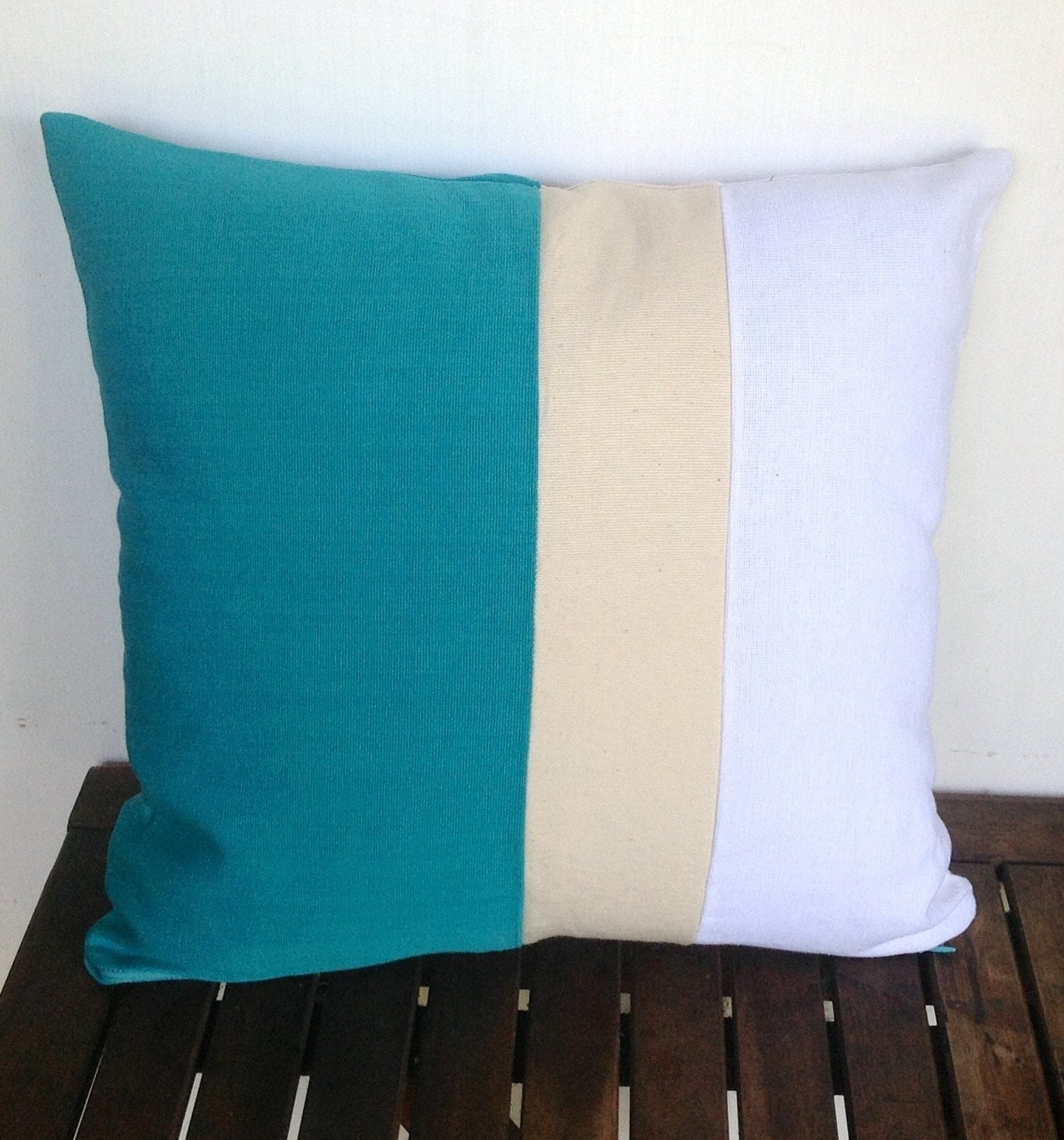 Teal Blue Throw Pillow : Kitchen & Dining