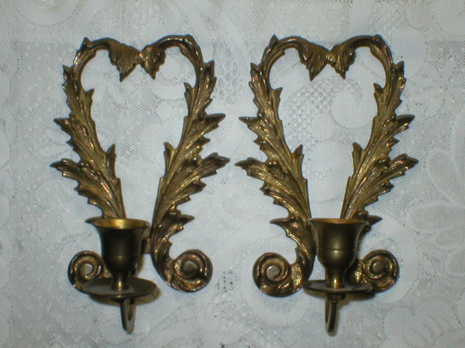 Reserved For Choi Wall Sconces Solid Brass Vintage Candle