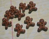 "Gingerbread Men Buttons - Christmas Sewing Button - 7/8"" - 9 Buttons"