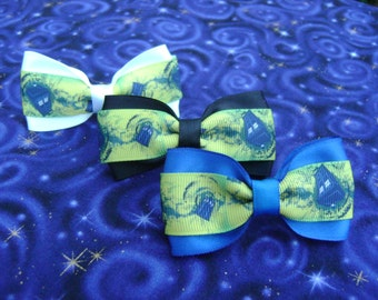 Time and Space Tardis Hair Bow