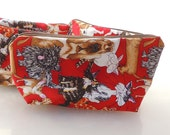 Crazy Dogs and Cats Zippered Pouch
