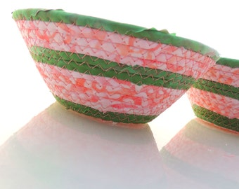 Small Pink and Green Bowl