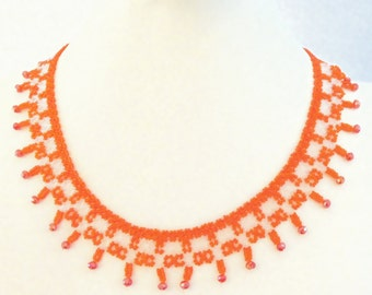 870 Seed beaded necklace