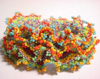 FIESTA Ribbon Ruffle Seed Bead Bracelet Kit