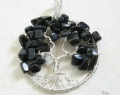 Black Obsidian Sterling silver Tree of Life - The protection tree