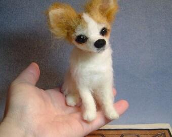 Needle felted  Dog custom Pet portrait  sculpture