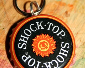 Personalized Beer Cap Pet ID Tags Shock Top Wheat Ale