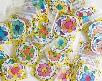 Flower Stickers Mini Pack (4)