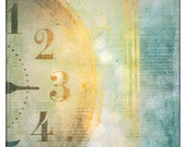 Blue, copper, clock, time, whimsical, Does Anybody Really Know What Time it is  fine art photography print