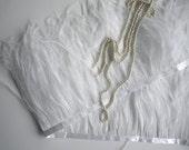Custom listing VOGUE OSTRICH  FRINGE,   True  White / 356