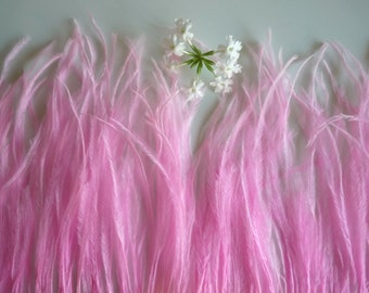 VOGUE OSTRICH Feather Fringe / Cotton Candy Pink / 334