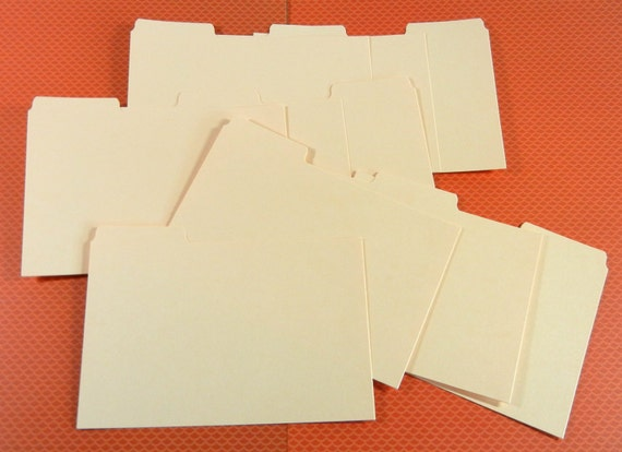 Extra Coupon Organizer Divider Cards - packs of 10