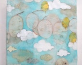 A Sense of Mission, encaustic painting, clouds, skies, cloud painting