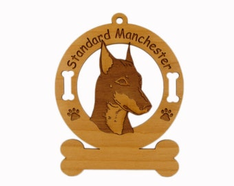4138 Standard Manchester Head Personalized Dog Ornament - Free Shipping