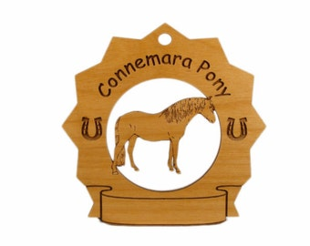 8105 Connemara Pony Personalized Wood Ornament
