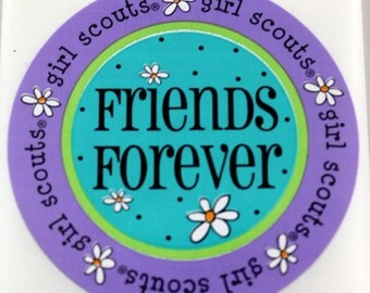 GIRL SCOUTS Stickers - Scrapbook Embellishment - Friends Forever Girl Scout Sticker