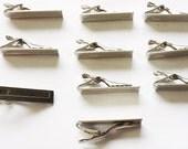 10 lot DIY Tie Bar Tie Clips Glue On metal findings