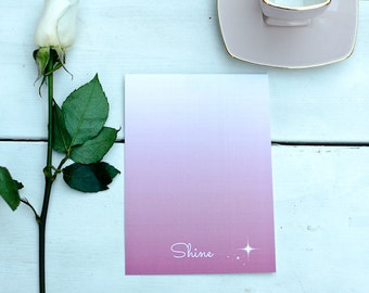 Shine - Word of the Year - Postcard with envelope
