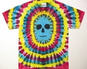 Tie Dye Skull Shirt, Zombie Tie Dye T Shirt, Youth Large