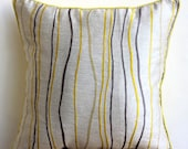 Decorative Throw Pillow Covers Couch Pillows Sofa Bed Pillow Toss Pillow Pillow Case 20x20 Throw Pillow Cover Yellow Waves Home Living Decor