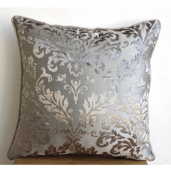thehomecentric - Luxury Grey Throw Pillow Covers, 16