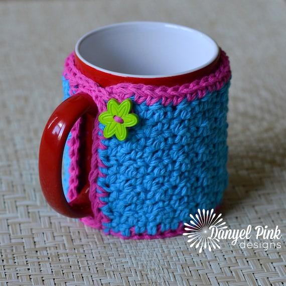 Free Crochet Mug Coaster Pattern : Grandma Maes Mug Cozy CROCHET PATTERN by DanyelPinkDesigns