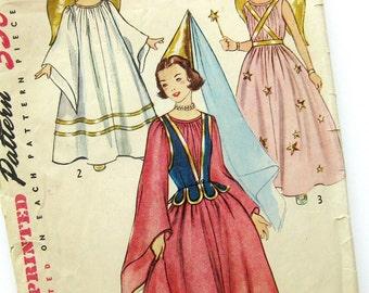 1950s Vintage Sewing Pattern - Girls Princess Costume Angel or Fairy - Halloween Costume - Simplicity 4071 / Medium