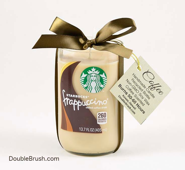 Home Decor Unique Jewelry Hand Crafted Gifts Candles In: Starbucks Candle Frappuccino Coffee Candle Repurposed Bottle