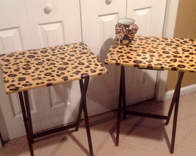 Whimsical Painted Furniture, Leopard Painted Table // Whimsical Painted Furniture // Leopard Table