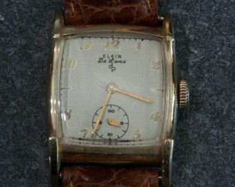 Vintage Elgin Deluxe 1940 to 50s watch