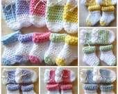 ON SALE 0-3months Baby Socks & Mitts Set Color Options