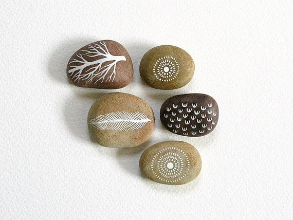 Collection of 5 Painted Stones