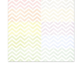 Soft Essential Chevron Digital Paper Collection | 10 .jpg Files | Great for Scrapbooking or Photographers | Instant Download | PE8023
