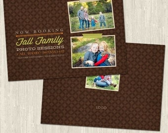 Fall Family Session Photography Marketing Promo Card | Photoshop Templates for Photographers - MM8001 - Instant Download!