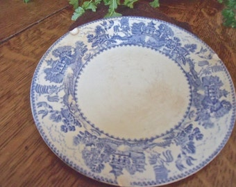 "VinTage- Bread and BuTTer PlaTe-MYOTT SON & Co.-""Ye Olde WiLLow"" pattern-ENGLAND-very old"