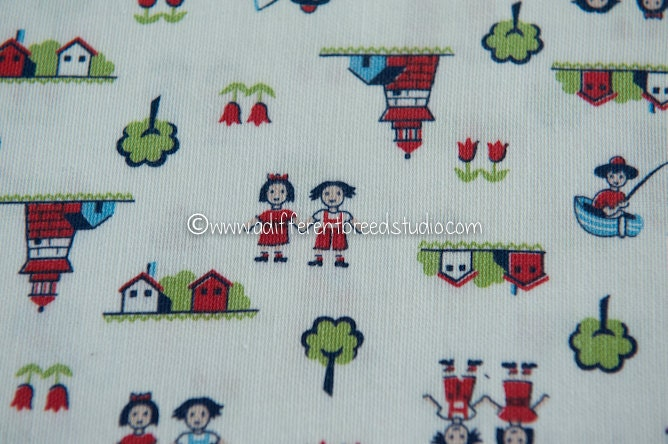 Kids at play vintage fabric whimsical novelty juvenile 34 in for Kids novelty fabric