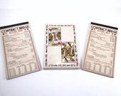 Vintage 3 contract bridge score pads for cards games bridge games