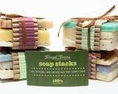 All Natural Handmade Soap Sample Stacks Vegan