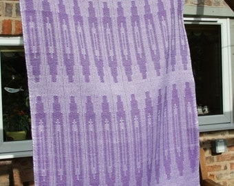 Shuttle Design - Handwoven cotton tea towel