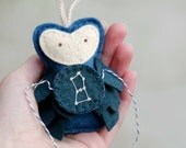 ORION Ornament Felt Owl, Constellation Gift for the Astronomer, Starry Night Christmas Ornament by OrdinaryMommy on Etsy