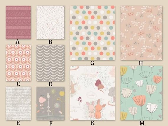 peach gray and mint custom crib baby bedding littlest rose. Black Bedroom Furniture Sets. Home Design Ideas