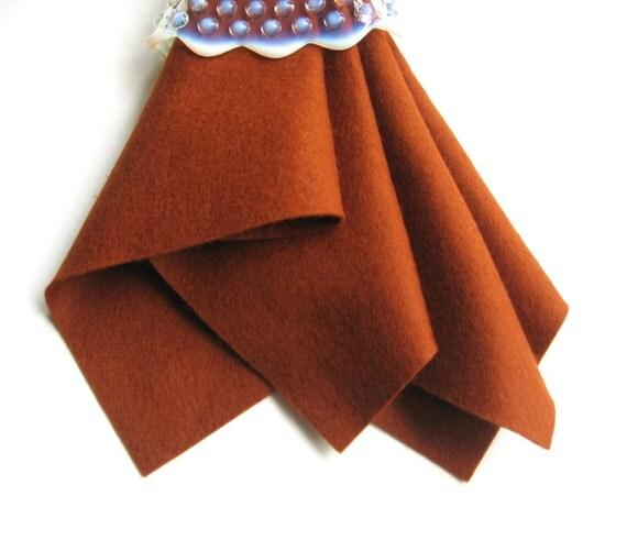 Bronze Wool Felt, Choose Size, Merino Wool Felt, Felt Sheet, DIY Craft Supply, Sewing Fabric, Applique, Needlecraft, Red Brown, Fox Brown